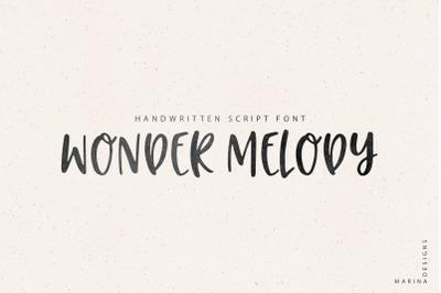 Wonder Melody handwritten script font