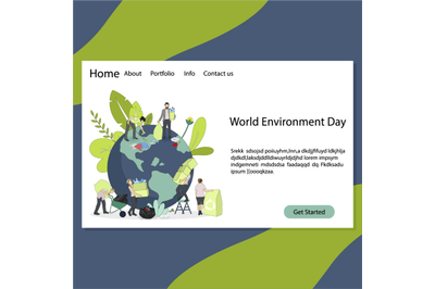 World environment day landing page, environment day 2021 theme