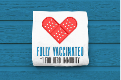 Fully Vaccinated | Applique Embroidery