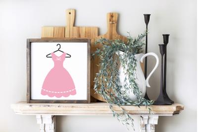 Vintage Dress on Hanger | SVG | PNG | DXF | EPS
