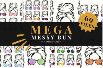 Mega Messy Bun Sublimation Bundle