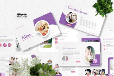 Ellas - Beauty Care Googleslide Template