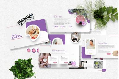 Ellas - Beauty Care Powerpoint Template