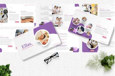 Ellas - Beauty Care Keynote Template