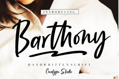 Barthony Handwritten Script