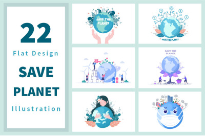 22 Save Our Planet Earth Illustration