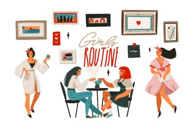 Girls routine