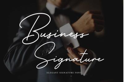 Business Signature - Elegant Script Font