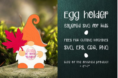 Autumn Gnome Chocolate Egg Holder SVG