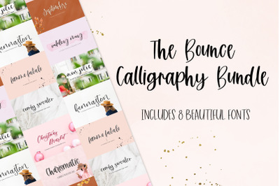 The Bounce Calligraphy Font Bundle