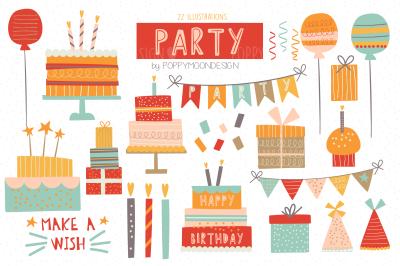 Party clipart set