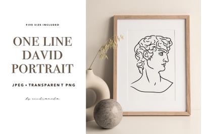 Greek God Printable, Statue Line Art, Modern Wall Art