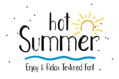 Hot Summer Textured Font
