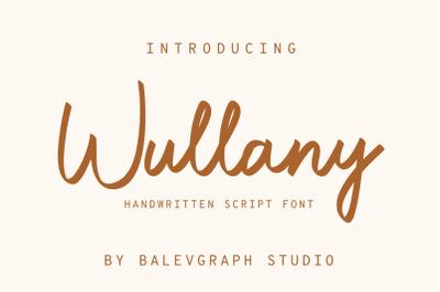 Wullany Handwritten Script Font