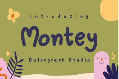 Montey Fun Joyful Typeface