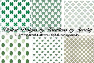 Green Transparent Pattern Digital Backgrounds