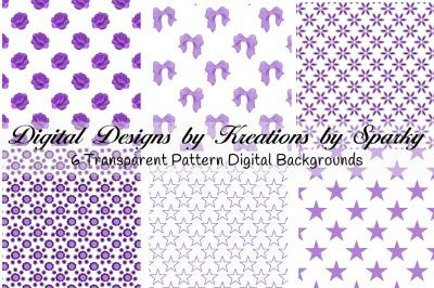 Purple Transparent Pattern Digital Backgrounds