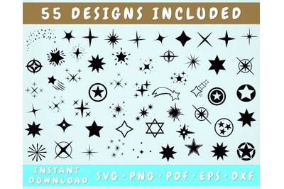 Stars and Sparkles SVG, Sparkle Cut Files, Sparkle Silhouette