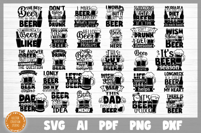 Beer Funny Quotes SVG Bundle Cut Files