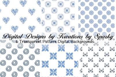 Blue Transparent Pattern Digital Backgrounds
