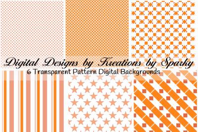 Orange Transparent Pattern Backgrounds