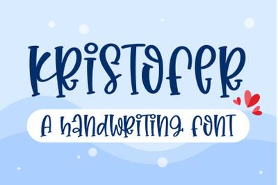 Kristorfer - A fun hanwritten font