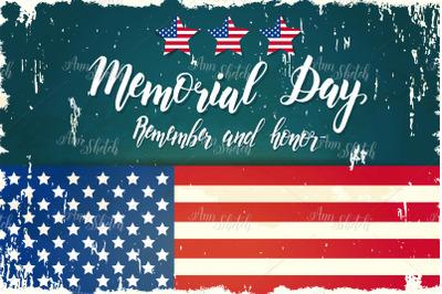 Memorial Day template.