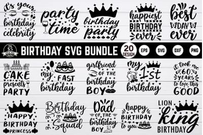 Birthday svg bundle vol 1