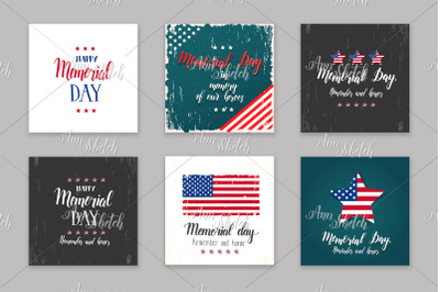 Memorial Day card set.