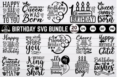 Birthday svg bundle vol 3