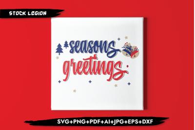 Seasons Greetings SVG