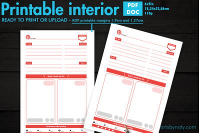 Pinterest Pins planner - KDP notebook.