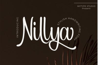 Nillya - Handwriting Font