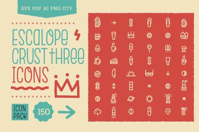 Escalope Crust Three Icons