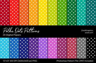 Polka Dots Digital Papers