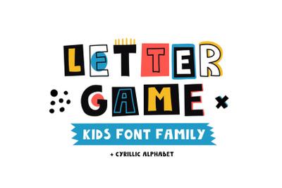 LetterGame - Kids font family