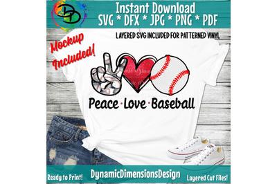 Peace, Love, Baseball svg, Baseball png, Baseball Shirt, Baseball, Pea