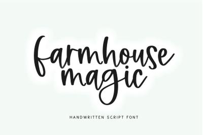 Farmhouse Magic - Handwritten Script Font