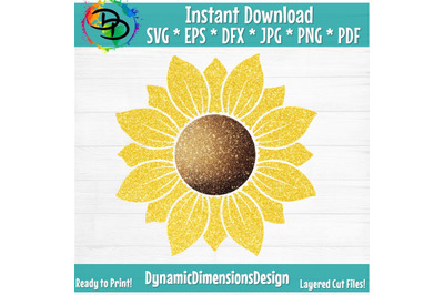 Sunflower SVG, Sunflower SVG, Sunflower cut file, Monogram Svg, Half S