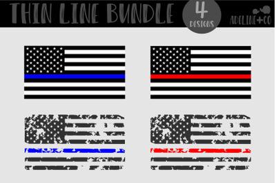 Thin line Flag Bundle, SVG, American Flag