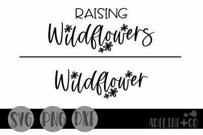 Raising wildflowers, SVG, Matching