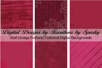 6 Red Pattern Texture Digital Backgrounds