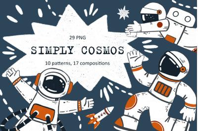 Simply Cosmos - Clip Art Set