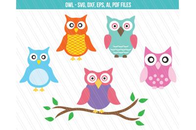 owl svg, Owl clipart, Owl dxf, Owl cutting files, vector