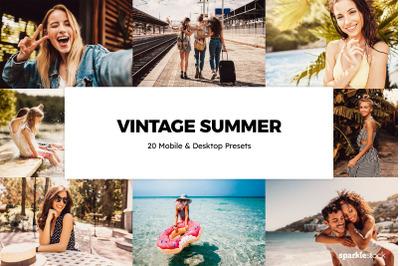 20  Vintage Summer LR Presets