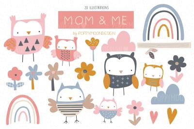 Mom & Me clipart set