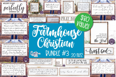 Farmhouse Svg, Christian Svg, Farmhouse Sign Bundle 3, Home