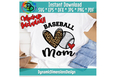 Baseball Mom, Leopard, Love, Baseball svg, Baseball, Baseball Shirt, B