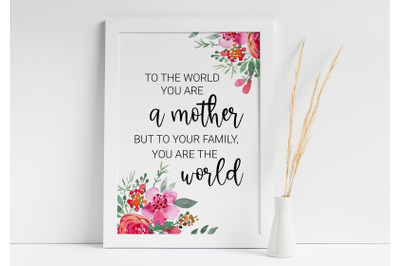 Mothers Day Printable, Gift for Mother