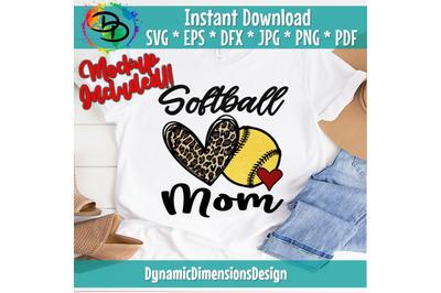 Softball Mom, Softball svg, Leopard, Softball Mom svg, digital downloa